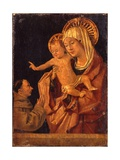 The Madonna and Child with a Franciscan Monk in Adoration Giclée-tryk af Antonello da Messina
