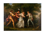 Valentine, Proteus, Sylvia and Giulia in the Forest - Scene from 'The Two Gentlemen of Verona'… Giclee Print by Angelica Kauffmann
