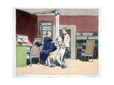 Huit Heures, Illustration from 'Moeurs Administratives, Dessinées D'Après Nature' by Henri… Giclee Print by Henri Bonaventure Monnier