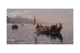 Wedding Procession in Sognefjord Giclee Print by Hans Andreas Dahl