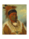 The White Cloud, Head Chief of the Iowas, 1844-45 Giclee Print by George Catlin