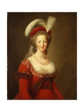 Portrait of Marie Antoinette, Queen of France Giclee Print by Elisabeth Louise Vigee-LeBrun