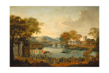 Procession by a Lake Giclee Print by Qing Dynasty Chinese School