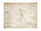 Map of the Battle of Aspern or Essling, Published by William Blackwood and Sons, Edinburgh and… Giclee Print by Alexander Keith Johnston