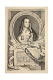 Portrait of Elizabeth, Queen of Henry Vii, Illustration from 'Heads of Illustrious Persons of… Giclee Print by Jacobus Houbraken