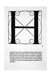 H, Illustration from 'Divina Proportione' by Luca Pacioli (C.1445-1517), Originally Pub. Venice,… Giclee Print by  Leonardo da Vinci