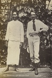 Robert Louis Stevenson with a Samoan Chief Photographic Print