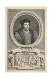Portrait of Henry Stafford, Duke of Buckingham, Illustration from 'Heads of Illustrious Persons… Giclee Print by Jacobus Houbraken