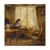 The Artist's Mother in the Living Room, Holskogen Giclee Print by Olaf Isaachsen