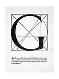 G, Illustration from 'Divina Proportione' by Luca Pacioli (C.1445-1517), Originally Pub. Venice,… Giclee Print by  Leonardo da Vinci