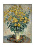 Jerusalem Artichoke Flowers, 1880 Giclee Print by Claude Monet