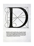 D, Illustration from 'Divina Proportione' by Luca Pacioli (C.1445-1517), Originally Pub. Venice,… Giclee Print by  Leonardo da Vinci