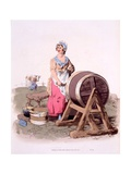 Milkmaids, from 'The Costumes of Great Britain; Rare and Convincing View of the Working Classes… Giclee Print by William Henry Pyne