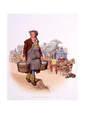 Watercarrier with His License Gr 198 (Georgius Rex), from 'The Costumes of Great Britain; Rare… Giclee Print by William Henry Pyne