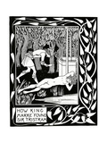 """How King Marke Found Sir Tristram"", Illustration from 'Le Morte D'Arthur' by Sir Thomas Malory,… Giclee Print by Aubrey Beardsley"