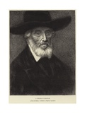 Portrait of Thomas Carlyle Giclee Print by Alphonse Legros