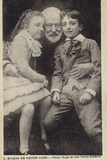 Victor Hugo (1802-1885), French Poet, Novelist and Dramatist, with His Grandchildren Photographic Print