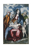 The Holy Family with Saint Anne and the Infant John the Baptist, C.1595-1600 Lámina giclée por  El Greco