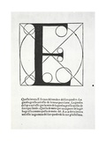 E, Illustration from 'Divina Proportione' by Luca Pacioli (C.1445-1517), Originally Pub. Venice,… Giclee Print by  Leonardo da Vinci