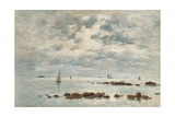 Low Tide, Saint Vaast La Hougue, 1892 Giclee Print by Eugene Louis Boudin