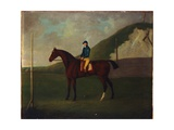 Creeper', a Bay Colt with Jockey Up at the Starting Post at the Running Gap in the Devils Ditch,… Giclee Print by John Nott Sartorius