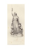 Portrait of Queen Boadicea Giclee Print by John Thomas