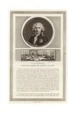 Portrait of Charles Alexandre, Vicomte De Calonne Giclee Print by Jean Duplessi-Bertaux