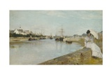 The Harbour at Lorient, 1869 Giclee Print by Berthe Morisot