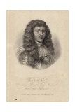 Portrait of King Louis Xiv Giclee Print by Robert Nanteuil