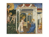 The Annunciation and Expulsion from Paradise, C. 1435 Giclée-tryk af Giovanni di Paolo di Grazia
