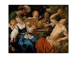 The Five Senses Giclee Print by Jan van Bijlert or Bylert