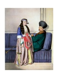 An Armenian Price and His Wife - Plate Xxvii, Engraved by Lemercier from 'V Giclee Print by Louis Dupré