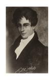 Niels Henrik Abel (1801-1829), Norwegian Mathematician Giclee Print