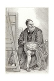 Portrait of Titian Giclee Print by Achille Deveria