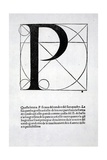 P, Illustration from 'Divina Proportione' by Luca Pacioli (C.1445-1517), Originally Pub. Venice,… Giclee Print by  Leonardo da Vinci