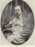 Portrait of Dante Gabriel Rossetti Photographic Print