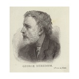 Portrait of George Meredith Giclee Print