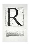 R, Illustration from 'Divina Proportione' by Luca Pacioli (C.1445-1517), Originally Pub. Venice,… Giclée-Druck von  Leonardo da Vinci