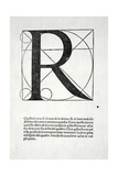 R, Illustration from 'Divina Proportione' by Luca Pacioli (C.1445-1517), Originally Pub. Venice,… Giclee Print by  Leonardo da Vinci