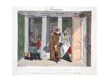 Un Pauvre Diable Paye Des Bottes, Illustration from 'Les Marionnettes' by Henri Monnier,… Giclee Print by Henri Bonaventure Monnier