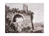 Remains of the Aqueduct Built by Claudius, Which Brought Water to Ancient Rome from the Anio,… Giclee Print by Luigi Rossini