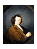 A Portrait of a Man, Half Length, Seated, 1680 Giclee Print by Cornelis Dusart