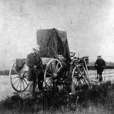 Alexander Gardner's Darkroom on Wheels, 1867 Fotografisk tryk af Alexander Gardner