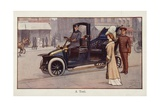 A Taxi Giclee Print by Ernest Ibbetson