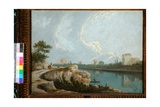 Banks of the Tiber, Rome Giclee Print by Richard Wilson
