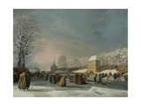 The Women's Speed-Skating Race on the Westersingel in Leeuwarden, January 21, 1809 Giclee Print by Nicolaas Baur