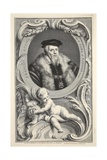 Portrait of Francis Russell, Illustration from 'Heads of Illustrious Persons of Great Britain',… Giclee Print by Jacobus Houbraken