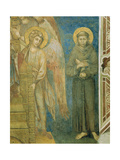 Saint Francis with an Angel (Detail) Giclee Print by  Cimabue