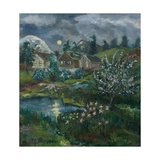 Spring Night with Full Moon Giclee Print by Nikolai Astrup