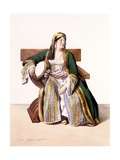 A Greek Woman of Livery - Plate Xvi, Engraved by Lemercier from 'Voyage À Athènes Et a À… Giclee Print by Louis Dupré